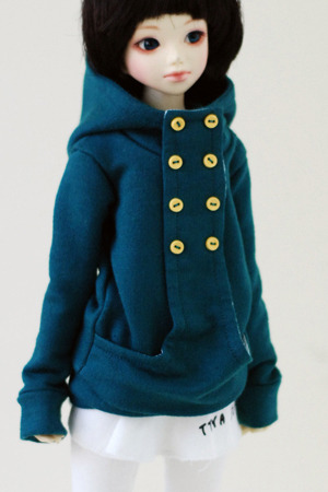 Chic Hooded-T - Bluish Green